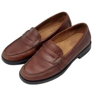 G.H. Bass Weejuns women's brown classic leather penny loafers, 5